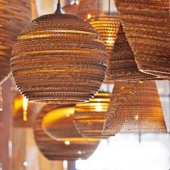Luminaria Corrugated Board Pendant Light