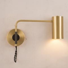 Modern 1-Light Brass Wall Sconce Bedside Reading Wall Lamp