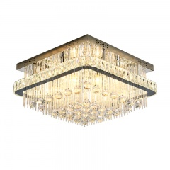 Modern Style 6-Light Two Layers Crystal Ceiling Lamp