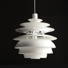 Modern Style PH Snowball Pendant in White