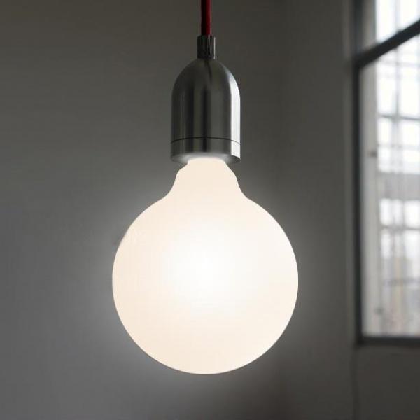 Brushed Steel Modern Minimalist Pendant Light