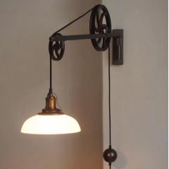 Chester Art Deco Pulley Wall Light