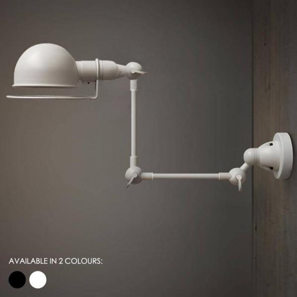 Fotis Mega Long Arm Industrial Retro Wall Light. Loft Warehouse Inspired Design.
