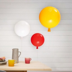 Round Balloon Wall Light With Pull Switch
