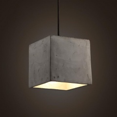 Concrete Odense Cube Pendant Light