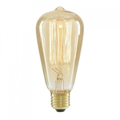 Classic Edison Filament Pear Shaped Bulb ST64 40W . Incandescent Tungsten