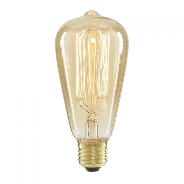 Classic Edison Filament Pear Shaped Bulb ST64 40W . Incandescent Tungsten