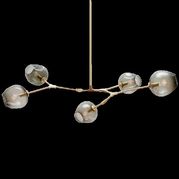 5 head Carmen Bubble Branching chandelier