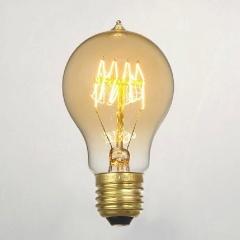 A19 Edison Filament Lightbulb 60W - Classic Tungsten Incandescent