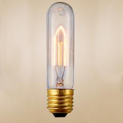T10 Bulk lot of Tube / Pencil Edison Filament Light Bulbs (3 or 6 pack)