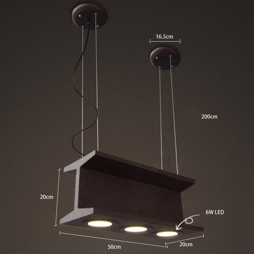 Railtrack Rustic Industrial Suspension Pendant Light