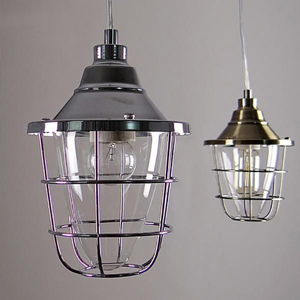 Oxford Metal Cage Industrial Pendant Light