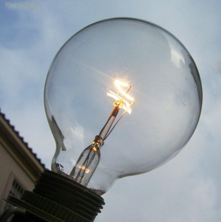 G80 Bulk lot of edison style medium round 40W short filament light bulbs (10 pack)