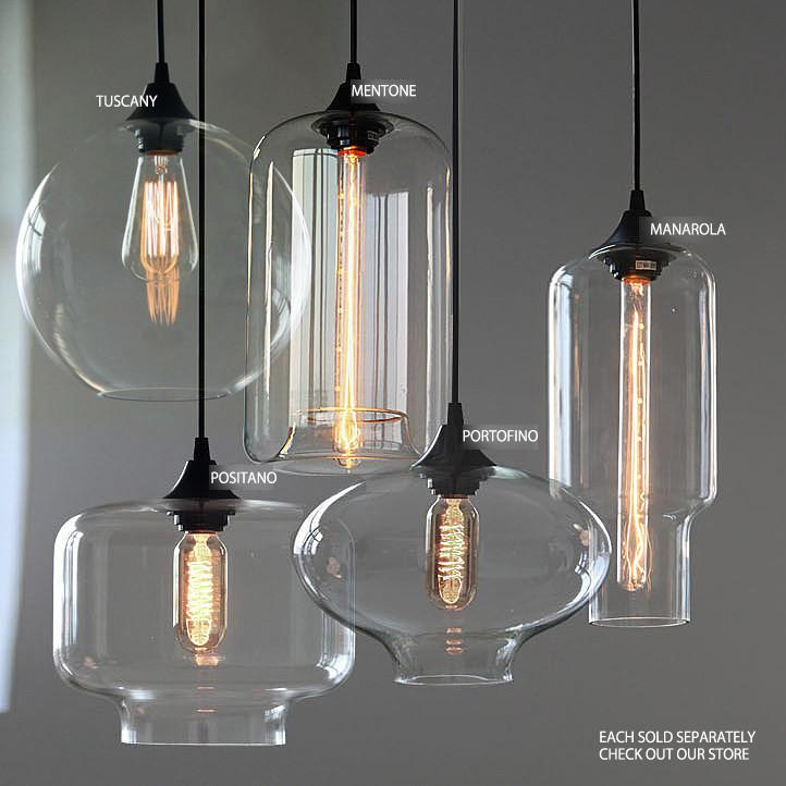 Manarola glass pendant light