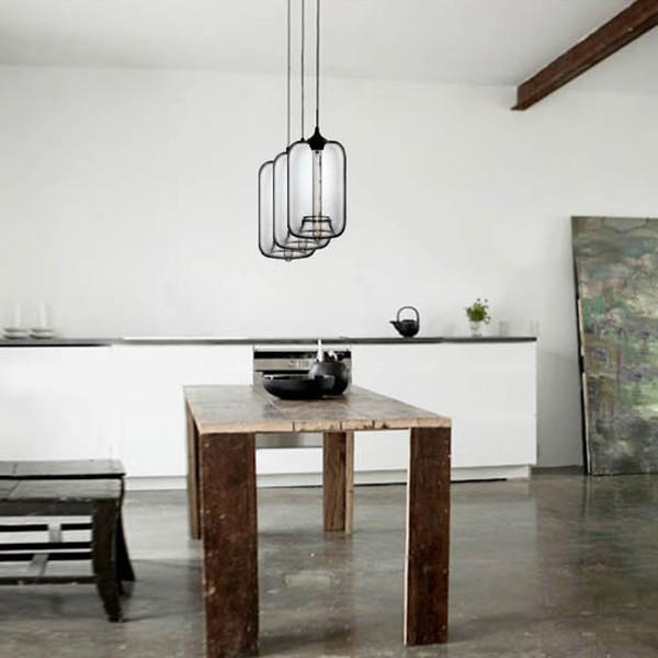 Mentone glass pendant light