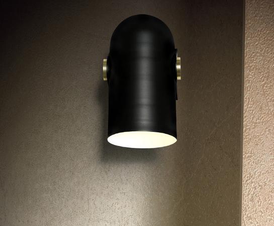 Black Spotlight Minimalist Wall Light