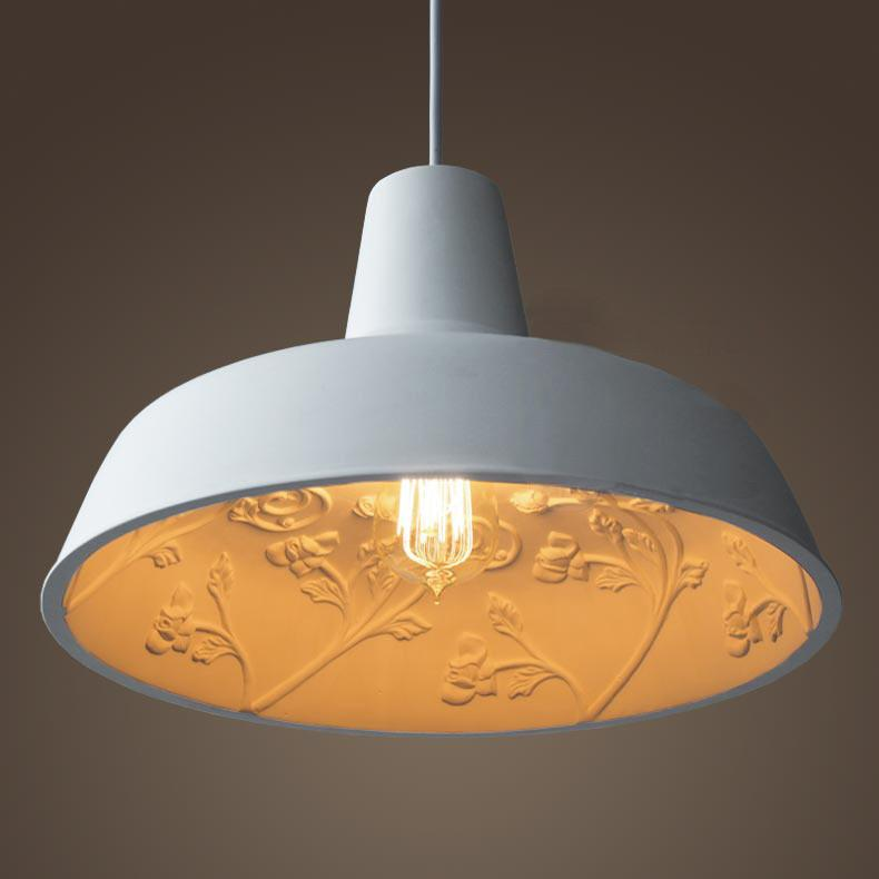 Epernay Garden Concrete Pendant Light. Elegant Design With Resin Cement Cast.