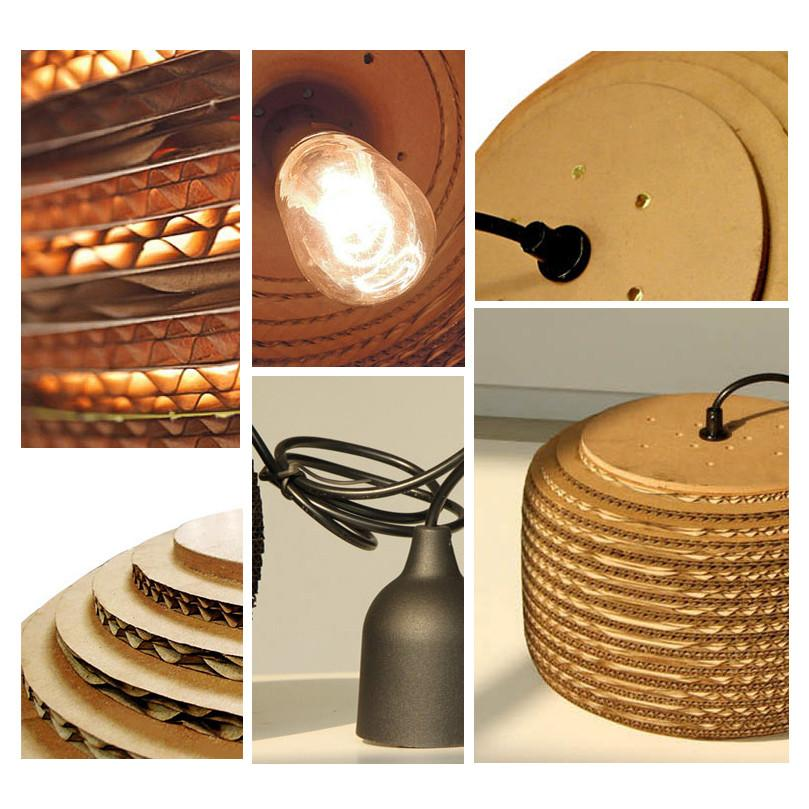 Luminaria Corrugated Board Pendant Light