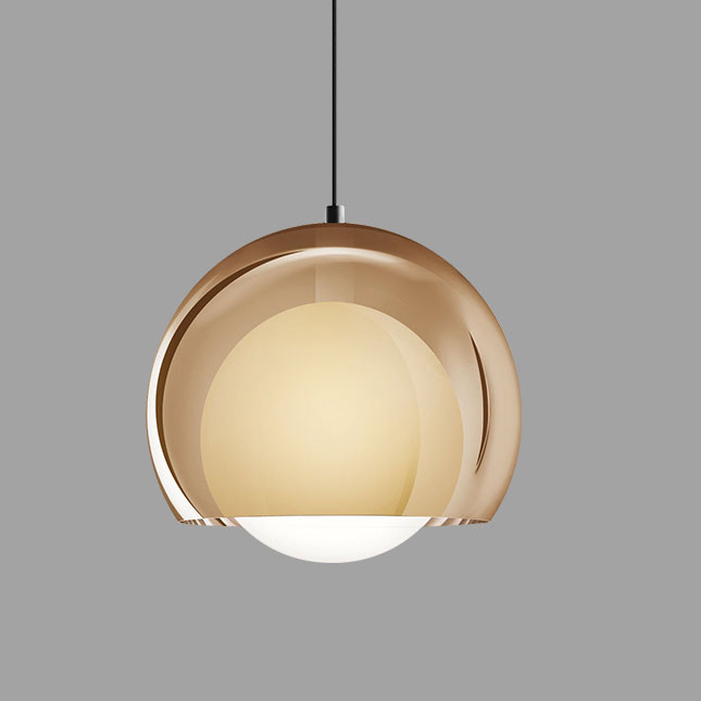 Hand-blown Glass Globe Pendant Light