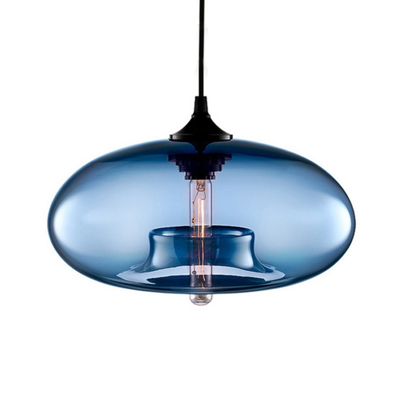 Concave Oval Glass Pendant Light