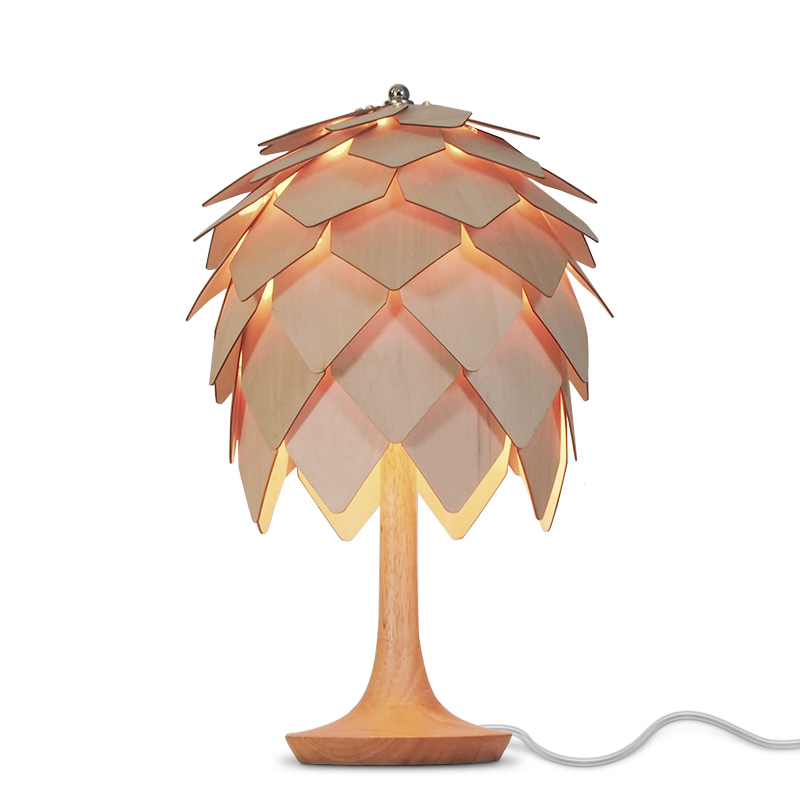 Pine Cone Bedside Table Lamp