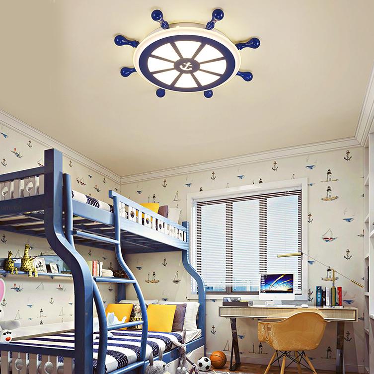 Kids Room LED Lighting Rudder Flush Mount Ceiling Light