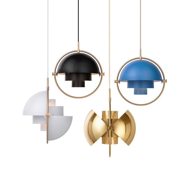 Danish Modern 1 Light Multi-Lite Pendant Light Designer GUBI Replica Shape-Changing