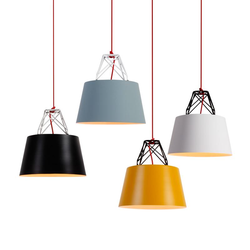Northern Lighting 1 Light Macaron Hanging Pendant Lamp with Cylindrical Shade