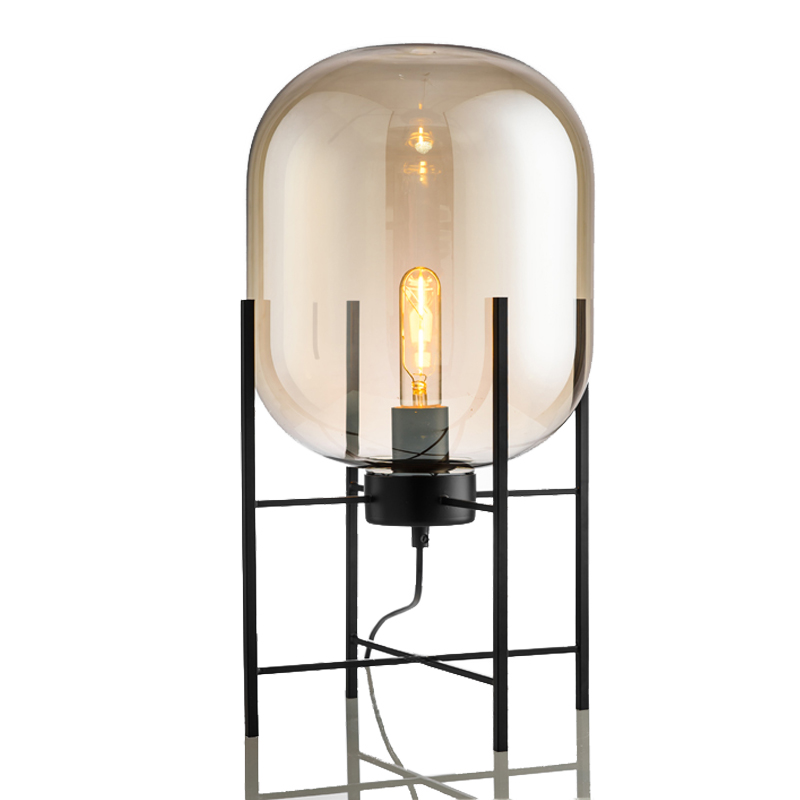 Chic 1 Light Cestita Metalica Table Lamp