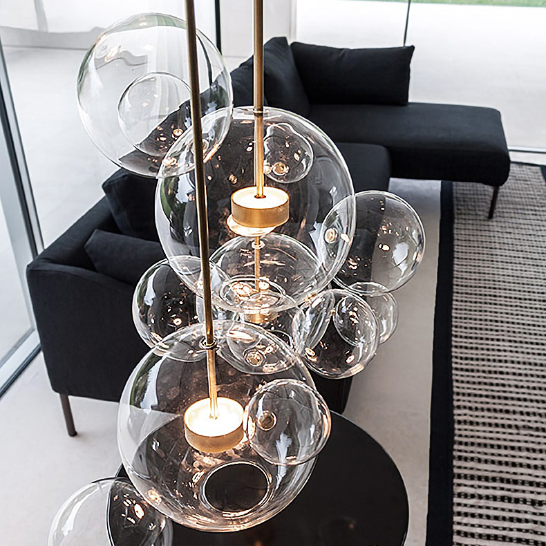 Soap Bubble LED Pendant Light with Clear Globe Glass