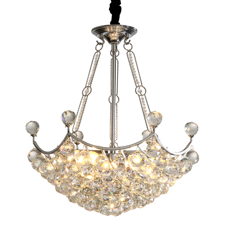 Contemporary 6-Light Crystal Chandelier with Clear Crystal Balls