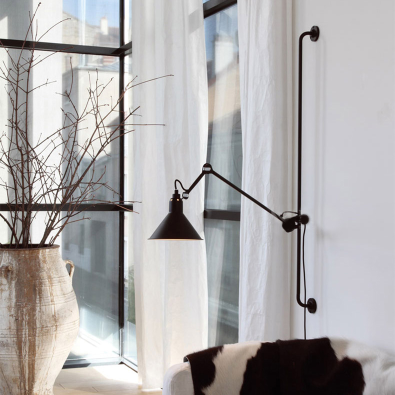 Nordic Industrial Style 1 Light Wall Sconce Chic Wall Decoration
