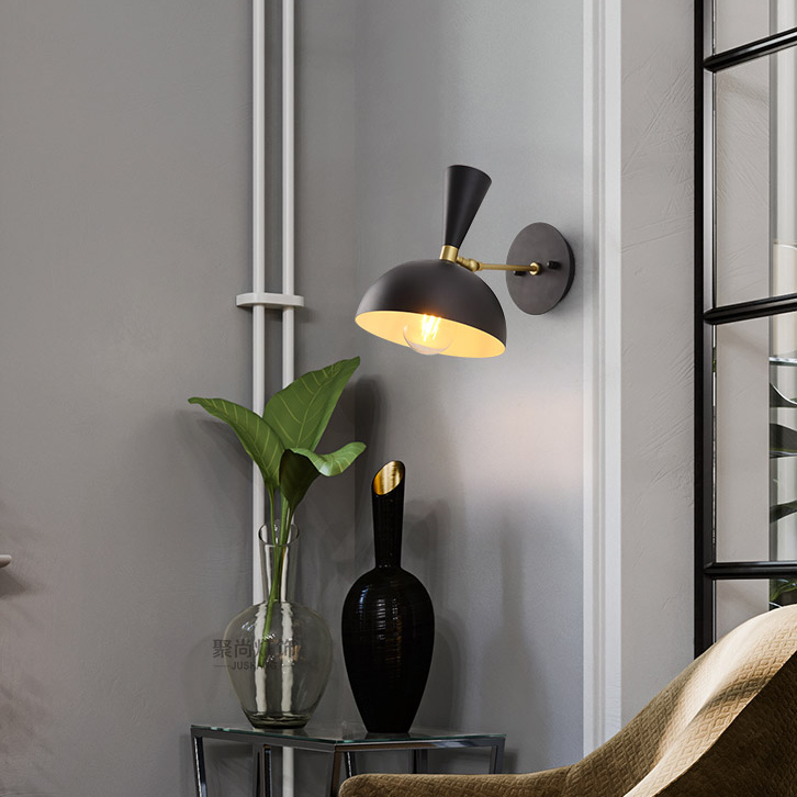 Modern 1 Light Dome Shape Wall Sconce Bedside Sconce
