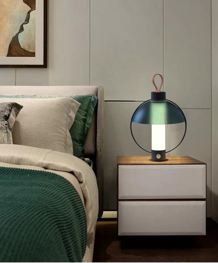 Nordic Table Lamp Metal Glass Portable Creative