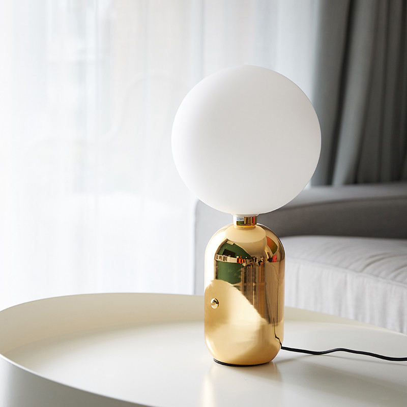 Glass Ball Shade Table Lamp