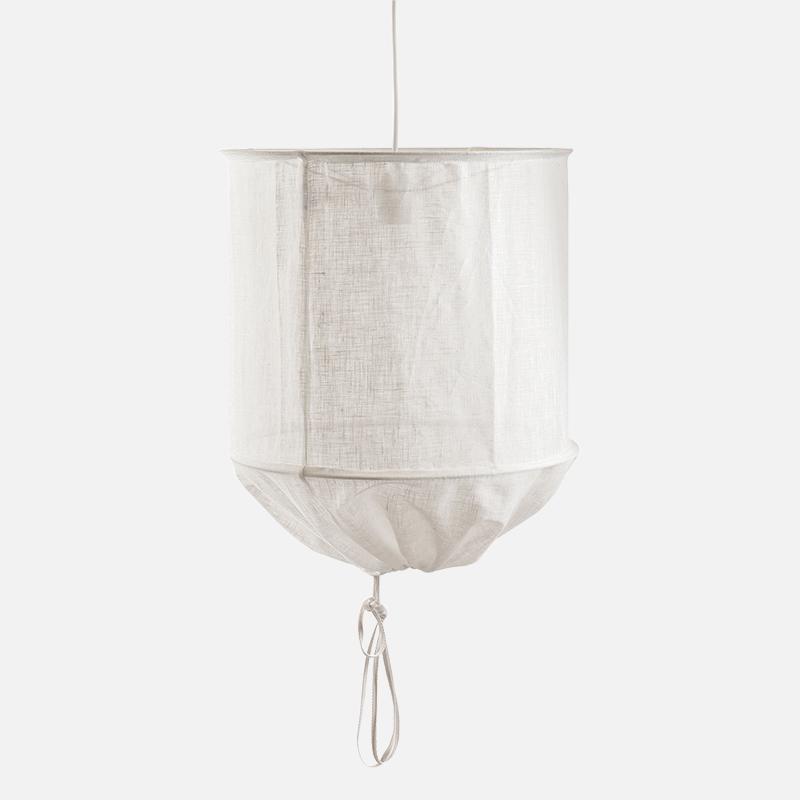Nordic design Linen Round pendant lamp