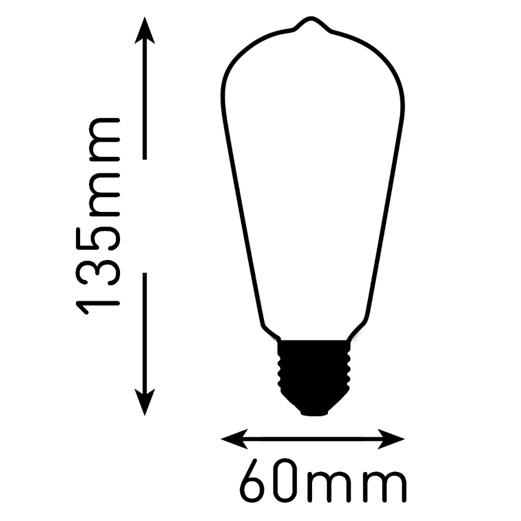 Classic Edison Light Bulb ST64 4W LED Filament (3 or 6 pack)