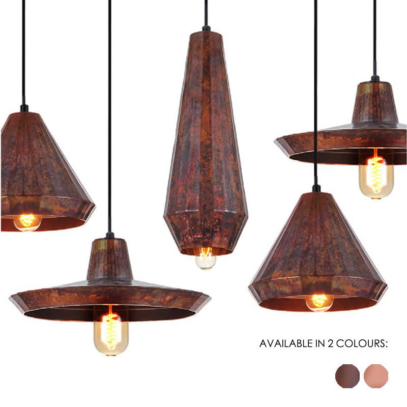 Cuprum - Rustic Copper Modern Pendant Light