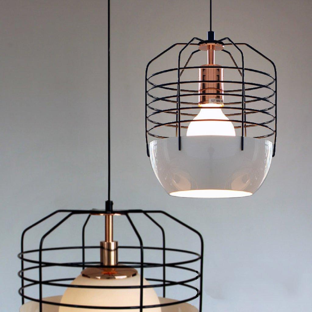 Gatsby Artdeco Style Cage Pendant Light. Classic Retro Style Ceiling Light.