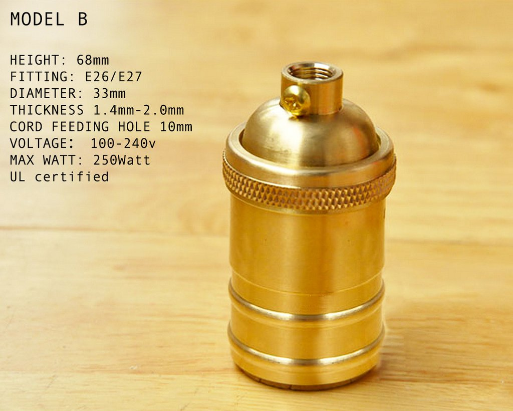 High Quality Bronze UL Bulb Fitting - pack of 3
