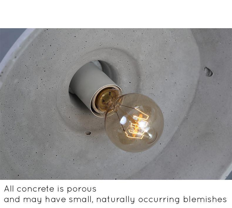 Presto Concrete Fluted Pendant Light