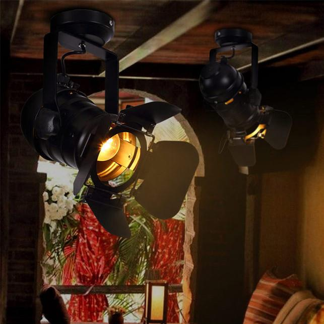 Classic Hollywood spotlight ceiling light