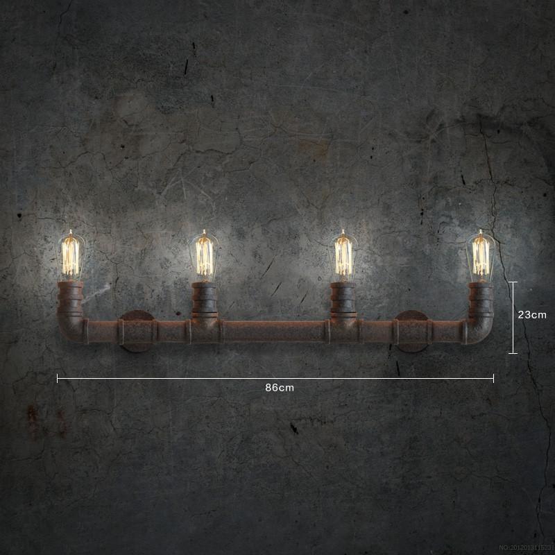4 Head Water Pipe Industrial Wall Light
