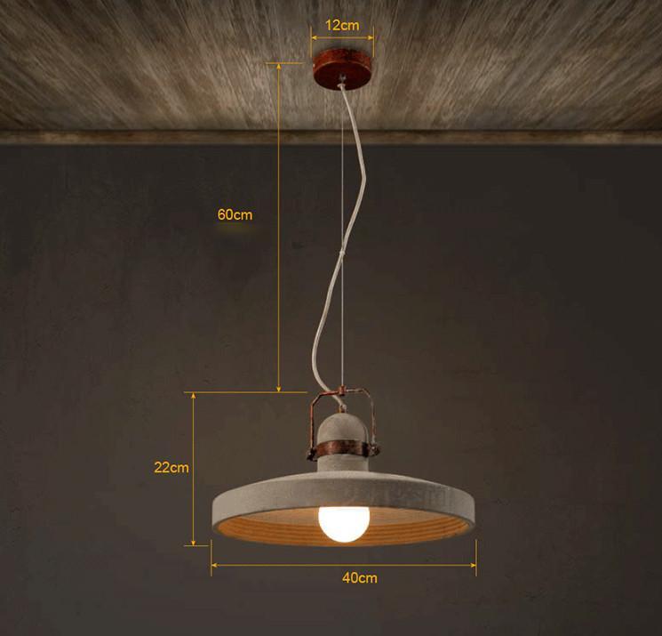 Vardo Concrete Plate Light With Rustic Metal Band
