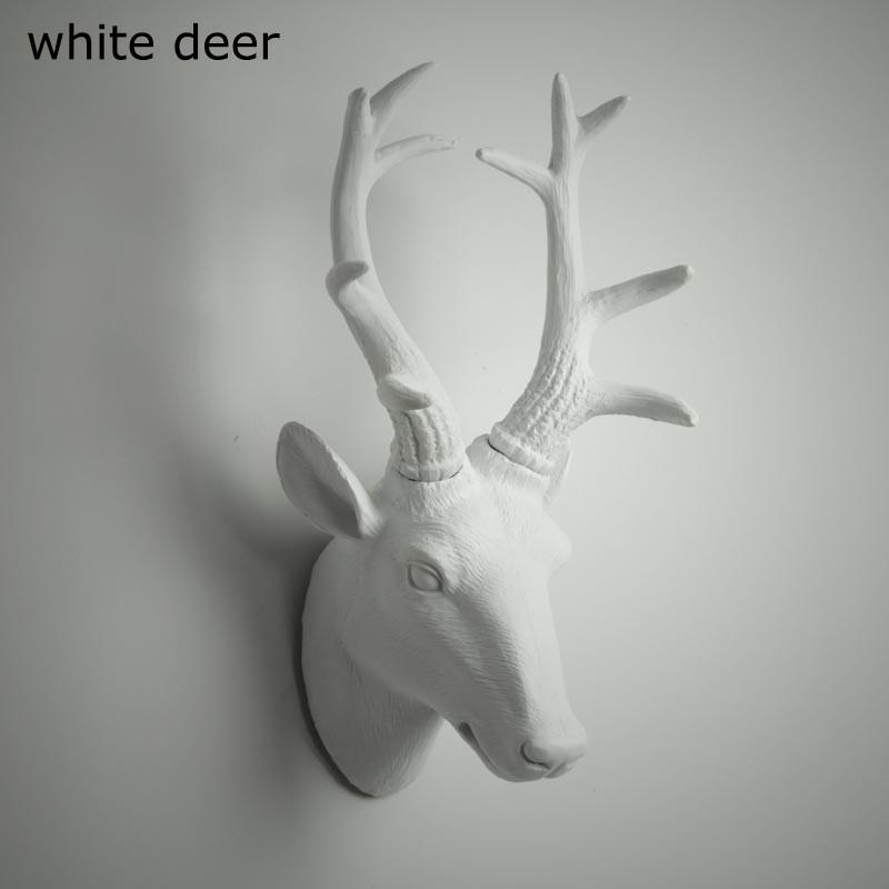 Animal Head Bust Wall Decor - Deer, Buck, Rhino, Antelope Bust, Moose