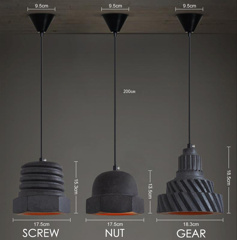 Nuts and Bolts Contemporary Pendant Light