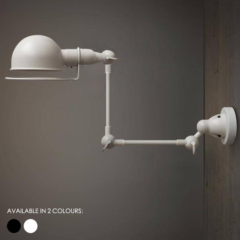 Fotis Mega Long Arm Industrial Retro Wall Light. Loft Warehouse Inspired Design.