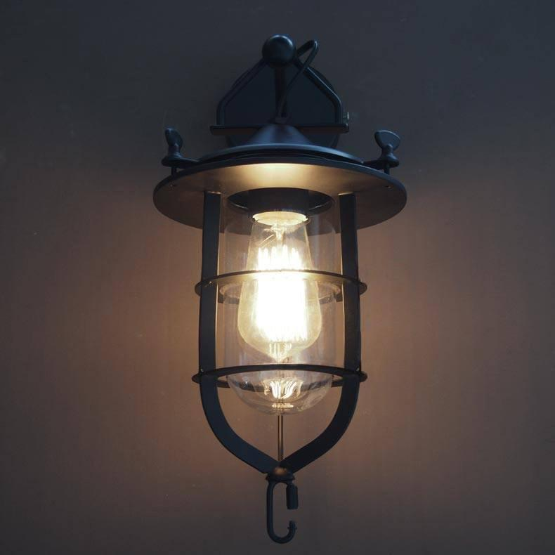 Lyndon Metal Cage Retro Industrial Wall Sconce Light