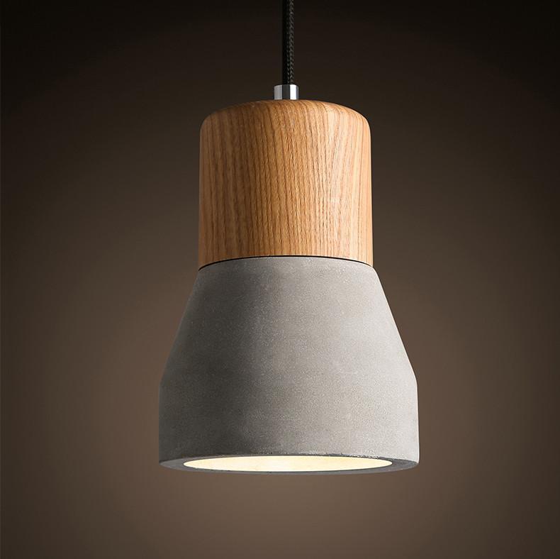 Concrete Wooden Stockholm Minimalist Pendant Light