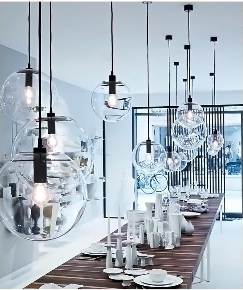 Glass Bubble Lamp Shade Pendant Ceiling Light